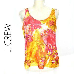 J. CREW Silk Tank Impressionist Floral Summer